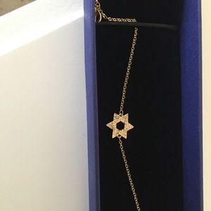 Swarovski Gold Star of David Bracelet